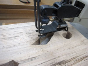 Next time I'll go straight to the scroll saw, using a spiral blade. On this instrument I was able to clean up most of the bad cuts. The rest serve to testify to my learning curve.