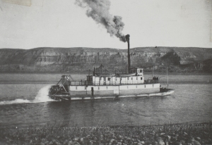 The river boat W. R. Todd provided reliable contact with the outside world from places like Hanford and White Bluffs.