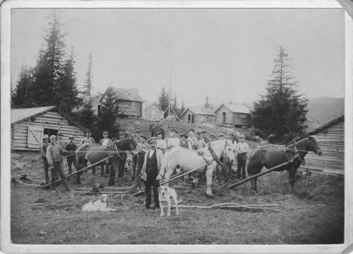 A logging crew from Angermanland poses before the camera of an unknown but expert photographer.
