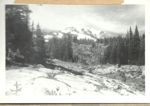 Mount Adams early in 1958, viewed from the foothills above Glenwood. Photograph by Walt Danielson.