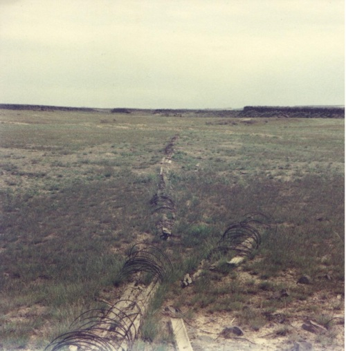 The remains of Oscar Danielson's irrigation pipes lead to his fields and ditches from the site of the Danielson dam.